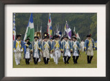French Troops Take the Field in a Reenactment of the Surrender at Yorktown Battlefield, Virginia Prints