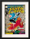 Marvel Comics Retro: Silver Surfer Comic Book Cover 8, the Ghost (aged) Prints