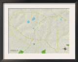 Political Map of Sans Souci, SC Print