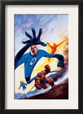 Marvel Double-Shot 3 Cover: Mr. Fantastic, Invisible Woman, Human Torch and Thing Swimming Posters by Joe Jusko