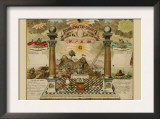 Symbols - Emblematic Chart and Masonic History of Free and Accepted Masons Posters