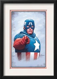 The New Invaders 0 Cover: Captain America Posters by Steve Epting