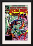 Secret Wars 3 Cover: Colossus, Nightcrawler, Spider-Man, Wolverine, Storm, Cyclops and X-Men Posters by Mike Zeck