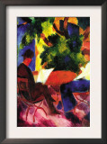 Couple At The Garden Table Prints by Auguste Macke