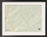 Political Map of Roebuck, SC Prints