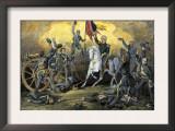 General Winfield Scott at the Battle of Cerro Gordo, U.S.-Mexican War Print