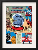 Captain America Comics 1 Cover: Captain America, Bucky, Sando and Omar Posters by Jack Kirby