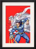 New Mangaverse 2 Cover: Wolverine and Lady Deathstrike Fighting Prints by Tommy Ohtsuka