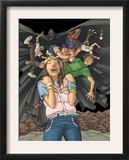Runaways 9 Group: Hayes, Molly, Cloak and Runaways Prints by Adrian Alphona