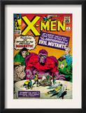 Marvel Comics Retro: The X-Men Comic Book Cover 4, Scarlet Witch, Quicksilver, Toad(aged) Prints