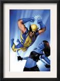 Mystique 23 Cover: Wolverine and Mystique Prints