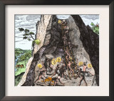 Natives Working in the Spanish Mines of Mexico Prints
