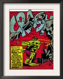 Marvel Comics Retro: The Incredible Hulk Comic Panel, Rage and Crash (aged) Posters