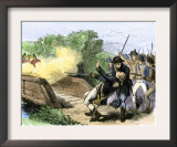 Minuteman Isaac Davis Killed Holding British Redcoats at North Bridge, Battle of Concord, c.1775 Posters