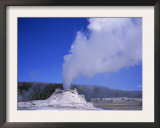 Castle Geyser Erupting, Yellowstone National Park, Wyoming, USA Prints by David Kjaer