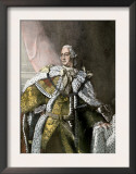 George Iii, King of England, in Gold Brocade Trimmed with Ermine, 1767 Posters