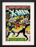 Marvel Comics Retro: The X-Men Comic Book Cover 97, Havok, My Brother-My Enemy! (aged) Prints