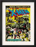 Marvel Comics Retro: The X-Men Comic Book Cover 96, Fighting the Night Demon (aged) Posters