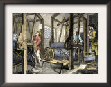 Weaving at Spitalfields, England, c.1700 Prints