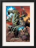World War Hulk: Gamma Corps 3 Cover: Hulk Prints by Stephane Roux