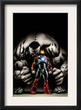Ultimate Human 4 Cover: Iron Man and Hulk Prints by Cary Nord