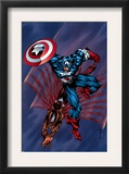 Captain America & The Falcon 4 Cover: Captain America and Falcon Prints by Bart Sears