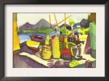 Landscape At Hammamet Print by Auguste Macke