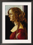 Portrait of Simonetta Vespucci Art by Sandro Botticelli