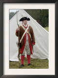 American Soldier at a Reenactment on the Yorktown Battlefield, Virginia Prints