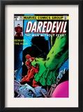 Daredevil 163 Cover: Hulk and Daredevil Fighting Prints by Frank Miller