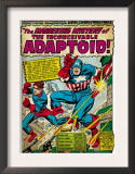 Marvel Comics Retro: Captain America Comic Panel, The Inconceivable Adaptoid! with Bucky (aged) Prints