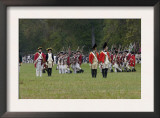 British Army on the Field in a Reenactment of the Surrender at Yorktown Battlefield, Virginia Print
