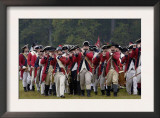 British Fife and Drum Corps Takes the Field in a Reenactment of the Surrender at Yorktown Poster