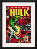 Marvel Comics Retro: The Incredible Hulk Comic Book Cover 108, with Nick Fury (aged) Posters