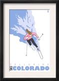 Telluride, Colorado, Stylized Skier Prints