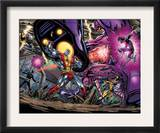 Exiles 69 Group: Colossus, Nightcrawler, Wolverine, Storm, Cyclops, Sentinel and X-Men Prints by Paul Pelletier