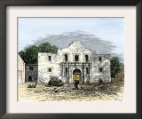 The Alamo in San Antonio, Texas, 1800s Poster