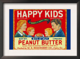 Happy Kids Bits O' Nut Peanut Butter Poster