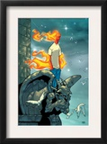 Human Torch 9 Cover: Human Torch Fighting Prints by Scottie Young