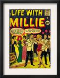 Marvel Comics Retro: Life with Millie Comic Book Cover 13, Bathing Suit, Beach Club Dance (aged) Print
