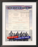 WWII US Army Air Forces Recruiting Poster Prints