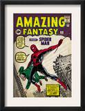 Marvel Comics Retro: Amazing Fantasy Comic Book Cover 15, Introducing Spider Man (aged) Posters