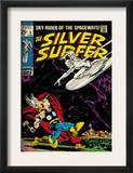 Marvel Comics Retro: Silver Surfer Comic Book Cover 4, Thor (aged) Prints