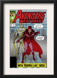 Avengers West Coast 47 Cover: Scarlet Witch and Vision Posters by John Byrne