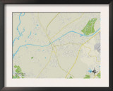 Political Map of Socastee, SC Prints