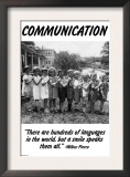 Communication Posters by Wilbur Pierce