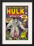 Marvel Comics Retro: The Incredible Hulk Comic Book Cover 1, with Bruce Banner (aged) Prints