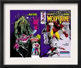 Marvel Comics Presents 10 Cover: Wolverine, Colossus, and Spider-Man Jumping Print by John Buscema