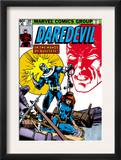 Daredevil 160 Cover: Bullseye, Black Widow and Daredevil Charging Poster by Frank Miller
