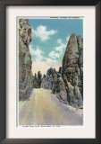 Custer State Park, South Dakota - View of the Highway Through the Needles, c.1935 Prints